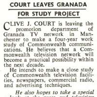 Court Leaves Granada for Study Project