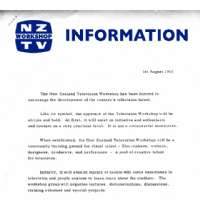 NZ Workshop TV Information